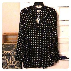 Black polka dot blouse (never worn)